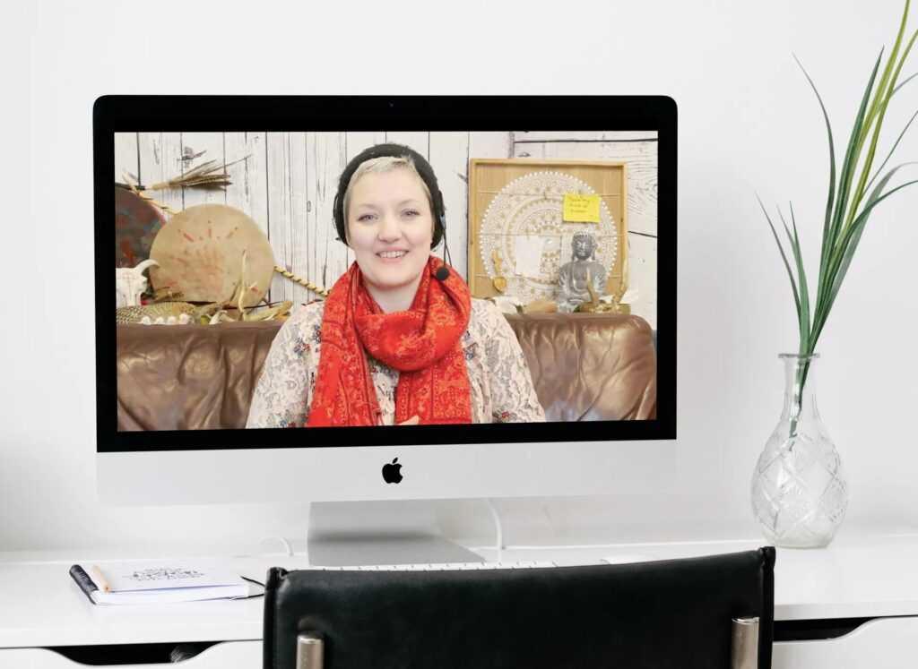 Image of Rhonda McCrimmon on a desktop computer